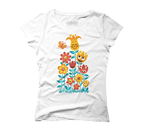 Small Garden Women's Graphic T-Shirt - Design By Humans White
