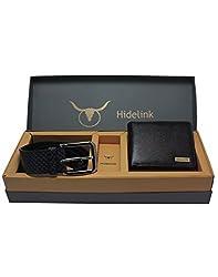 Hidelink Genuine Leather Belt & Wallet Combo for Men (SP8531)