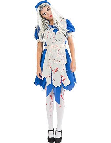 Kostüm Halloween Verkleidung Erwachsene Damen Large (Alice Halloween Kostüm)