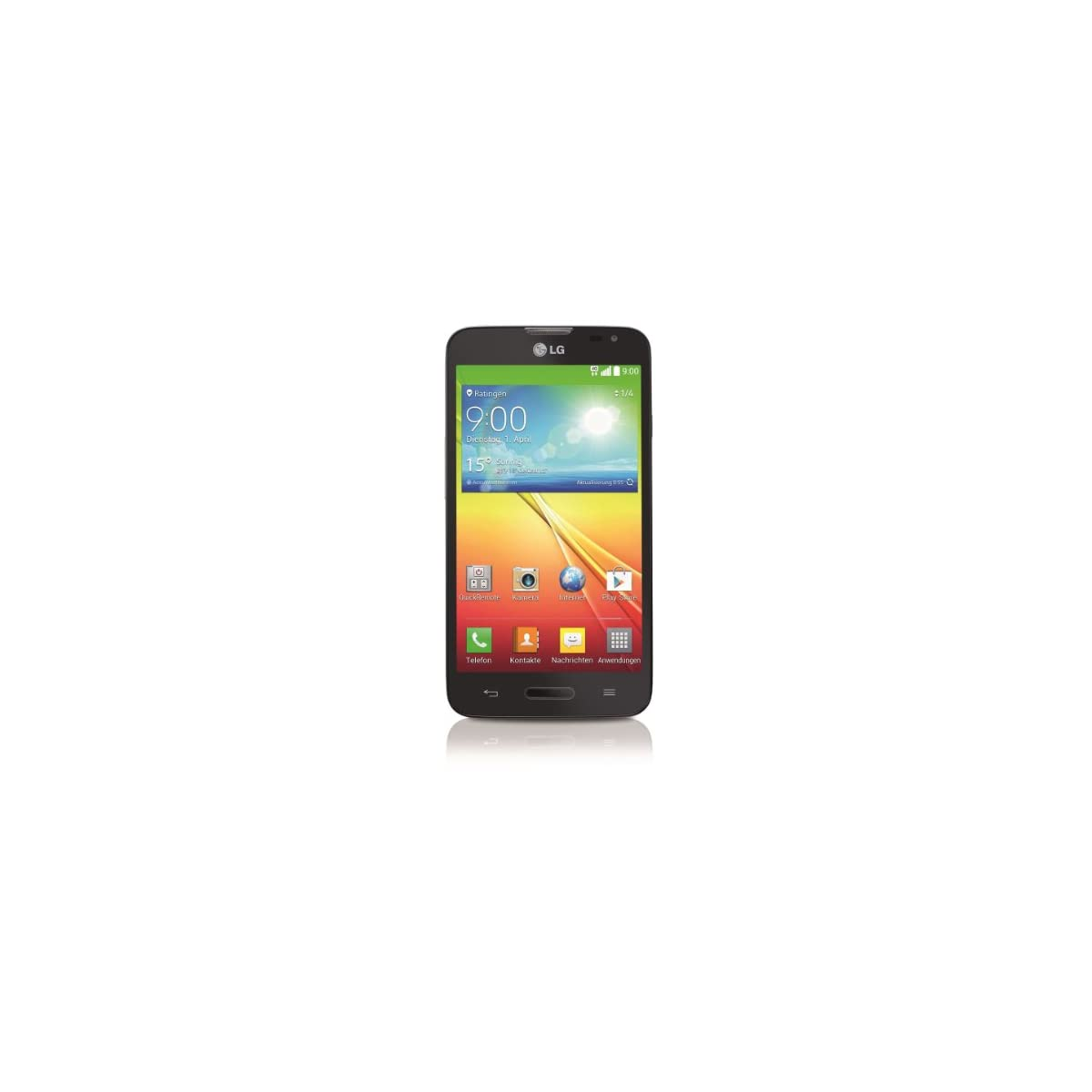 LG GD320 Optimus L70 Smartphone (11,4 cm (4,5 Zoll) Touchscreen, 1GB RAM, 4GB Flash-Speicher, 8 Megapixel Kamera, Android OS)