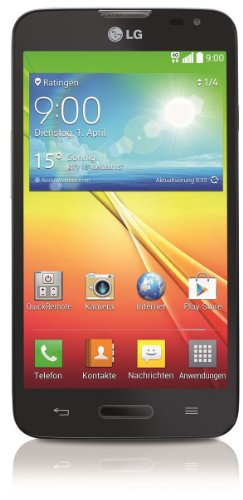 LG L70 Smartphone (11,4 cm (4,5 Zoll) Touchscreen, 1GB RAM, 4GB Flash-Speicher, 5 Megapixel Kamera, Android 4.4) schwarz