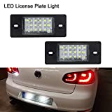 Luce targa a LED, Gempro 2 Pack 18 luci SMD LED con resistore CAN-bus integrato e targa a risparmio energetico impermeabile senza errori Per GOLF5