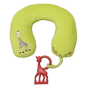 Sophie la girafe Travel Pillow and Vanilla Teething Ring Set