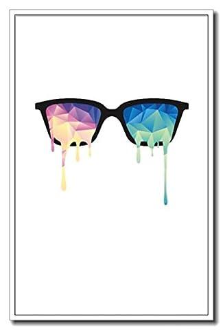 Haehne Modern Cool Glasses Toiles en coton Impression Oeuvres Peintures à l'huile Photo Imprimé sur toile Art mural pour les décorations maison à la chamber, 60 *90cm(23 *35Inch), Image seulemen