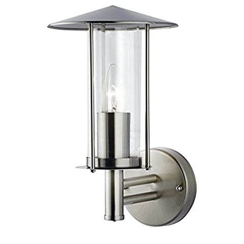 Outdoor IP44 Modern Cylindrical Stainless Steel Garden Wall Lantern
