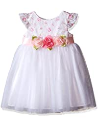 Little Me Toddler Baby Girls' Rose Lace Mesh Dress