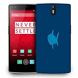 Snoogg Small Shark Designer Protective Phone Back Case Cover For OnePlus One