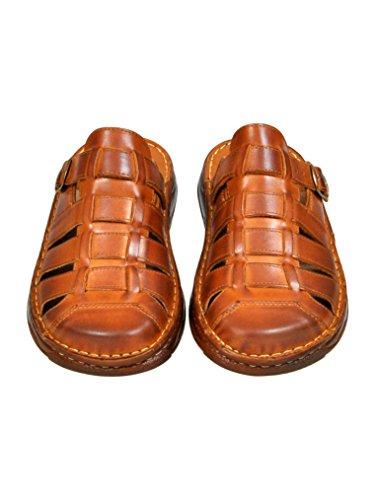Herren Bequeme Sandalen Schuhe Mit Der Orthopadischen Einlage Aus Echtem Buffelleder Hausschuhe Modell 860 Braun