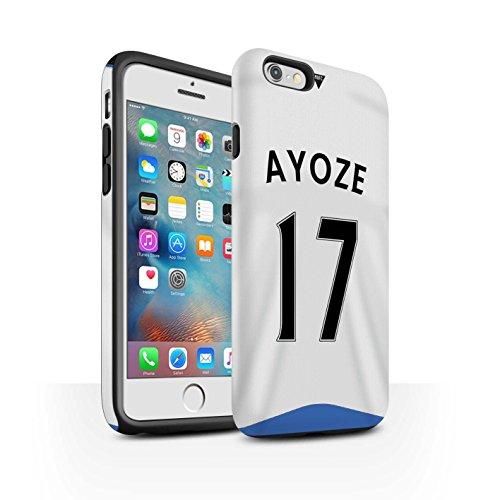 Offiziell Newcastle United FC Hülle / Matte Harten Stoßfest Case für Apple iPhone 6+/Plus 5.5 / Pack 29pcs Muster / NUFC Trikot Home 15/16 Kollektion Ayoze