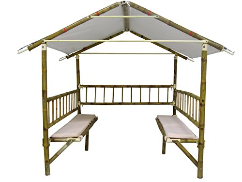 Bamboooz Premium Eight Seater Gazebo (Natural)