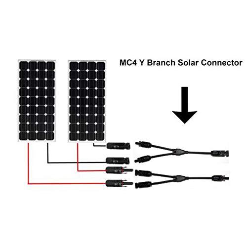 2 MC4 Solarkabel Y Stecker Verteiler Buchse Solarpanel Photovoltaik Kabel 1 Paar