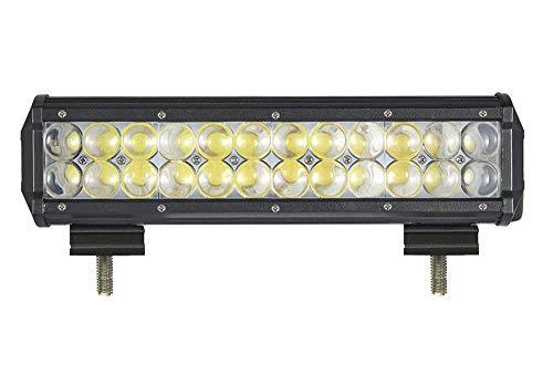 ALPHA DIMA 72W 18W 36W Phare de Travail LED Lampe Voiture Barre(90 degré),12V 24V Long Barre Carré Feux de Jour LED Imperméable IP67 Spot Extérieur Éclairage(72 Watt)