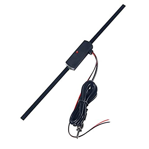 Winwill Auto Voiture caché amplifié antenne 12V électronique radio AM/FM stéréo universel