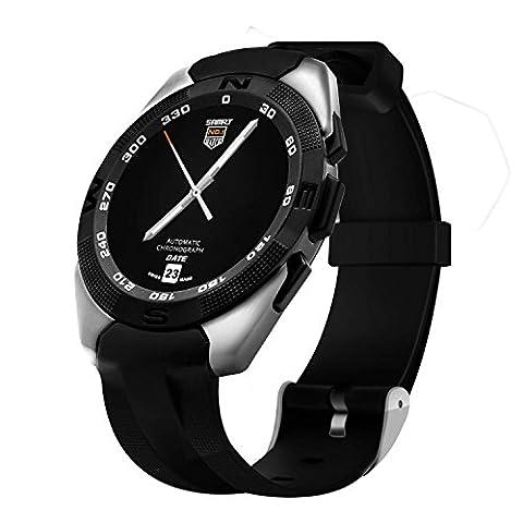 Montre bracelet électronique/montre bracelet pour femmes/étanche, Acier inoxydable, montre Bluetooth pour femme G5e tracker de fitness et Smart Watch–Glodsmart Watch Sport Montre pour homme Timex