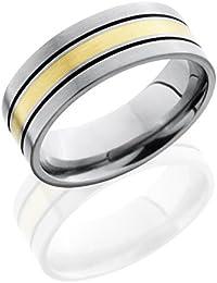 Titanium, Compass Engraved Flat Satin Wedding Band (sz H to Z1)