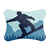 DIYthinker Winter Sport Pattern Ski Suit and Boots Paper Card Puzzle Frame Jigsaw Game Home Decoration Gift