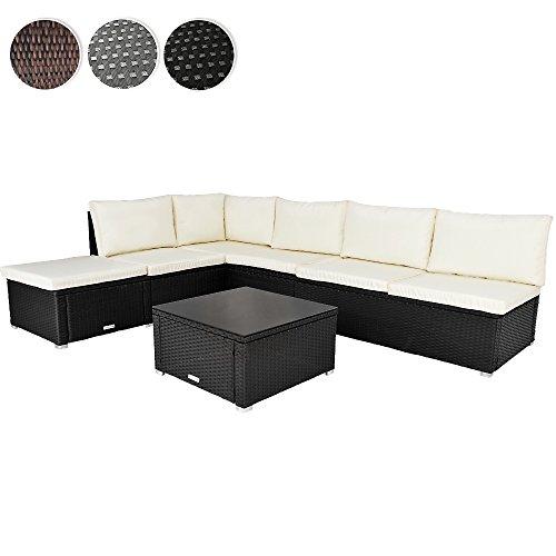 miadomodo polyrattan garden dining seat table lounge set. Black Bedroom Furniture Sets. Home Design Ideas