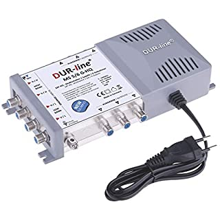DUR-line MS 5/6 G-HQ Multischalter - SAT für 6 Teilnehmer/TV - mit stromspar Netzteil - Made in Germany - Multiswitch [Digital, HDTV, FullHD, 4K, UHD]