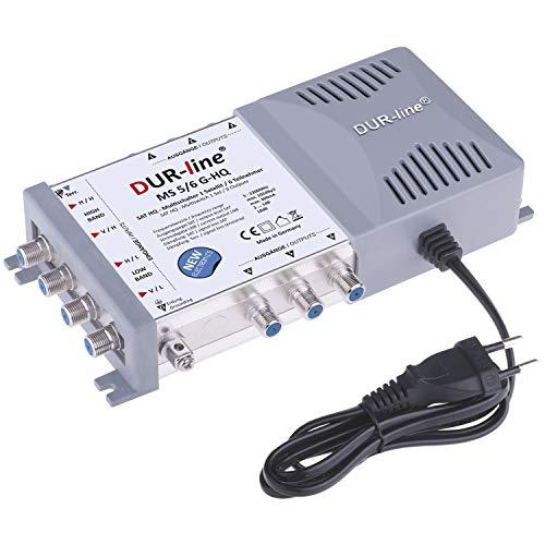 DUR-line MS 5/6 G-HQ Multischalter - SAT für 6 Teilnehmer/TV - mit stromspar Netzteil - Made in Germany - Multiswitch [Digital, HDTV, FullHD, 4K, UHD]