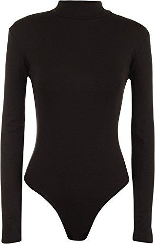 WearAll - Justaucorps à manches longues avec un col roulé - Hauts - Femmes - Tailles 36 à 42