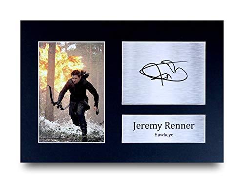 HWC Trading Jeremy Renner A4 Ungerahmt Signiert Gedruckt Autogramme Bild Druck-Fotoanzeige Geschenk Für Hawkeye The Avengers Filmfans (Hawkeye Aus Avengers)
