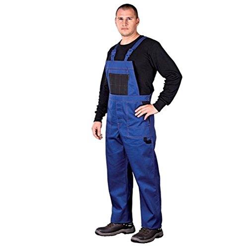 Arbeitslatzhose Latzhosen Latzhose Arbeitshose multifunktion Hose Arbeitskleidung versch. Farben Gr. 46-62 (52, blau)