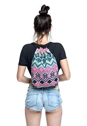 745958dcbc7b8 Test Beutel Aztec Rosa Aztekenmuster Muster Bag Stringbag Kordel Gym ...