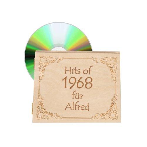 Musik 1968 - Jahrgangsmusik-CD 1968 mit Ihrer individuellen Namens-Gravur - Geschenk zum 50. Geburtstag