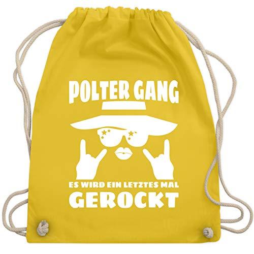 bschied - Frauen Polter Gang - Es wird ein letztes mal gerockt! - weiß - Unisize - Gelb - WM110 - Turnbeutel & Gym Bag ()
