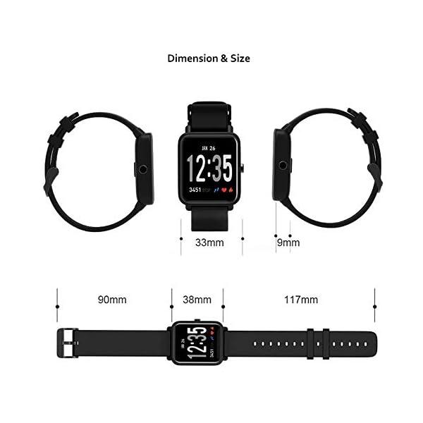 Fitness Tracker IP68 Impermeable Monitor, Letopro Rastreador de Pulsera Actividad Smartwatch Soporte Monitor de ritmo cardíaco Podómetro de presión arterial para Android IOS Mujeres Hombres 7