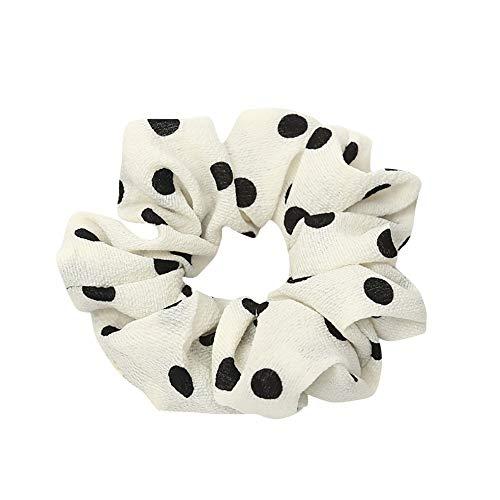 PinkLu Haarband Damen Elastischer Haarseilring Krawatte Elastisches Pferdeschwanz-Haarband Tupfen Drucken Elegantes Wilde Mode Neuer HeißEr 5-Farbiges Haarband