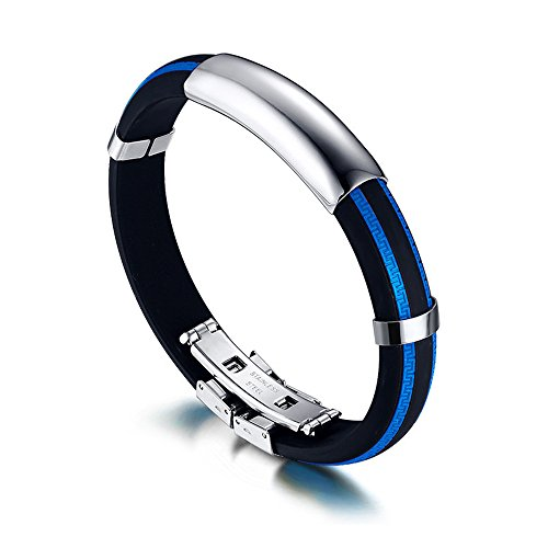 moderno-moda-acero-inoxidable-gel-de-silice-gran-patron-de-la-pared-azul-brazalete-hombre-mujer