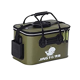 Kongnijiwa Portable Collapsible Live Bait Bucket Outdoor Waterproof Folding Barrels Camping Travel Tools Fishing Bucket