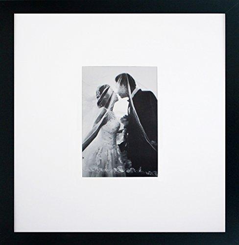 Smashed Banana Galerierierahmen mit 12,7 x 17,8 cm Matte, Hochzeits- und Feierschriften, inkl. Aufhängung und Aufhängung für Bilder 12,7 x 17,8 cm oder 35,6 x 35,6 cm, durchsichtige Plexiglas-Front
