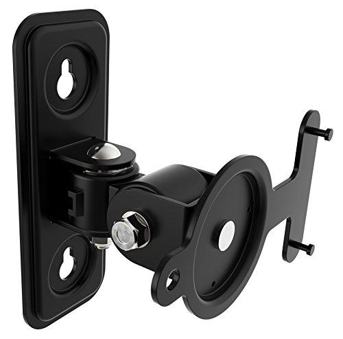 RICOO Lautsprecher Wandhalterung schwenkbar neigbar LH433B für SONOS® Play 3 / Wlan Airplay Lautsprecher-Wandhalter / Halterung-Lautsprecherboxen / Multiroom Speaker Full-Motion Mount / Schwarz / (Sonos Play 3 Wandhalterung)
