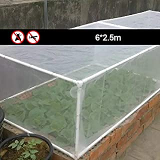 NANAD Insect Netting Fine Mesh Grow Tunnel Insect Netting for Vegetables Fruits Plants, 6/10x2.5M Garden Netting(6x2.5m,White dense cloth)