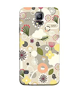 PrintVisa Designer Back Case Cover for Samsung Galaxy S5 Mini :: Samsung Galaxy S5 Mini Duos :: Samsung Galaxy S5 Mini Duos G80 0H/Ds :: Samsung Galaxy S5 Mini G800F G800A G800Hq G800H G800M G800R4 G800Y (Gross flowers Totally arranged the flowers)