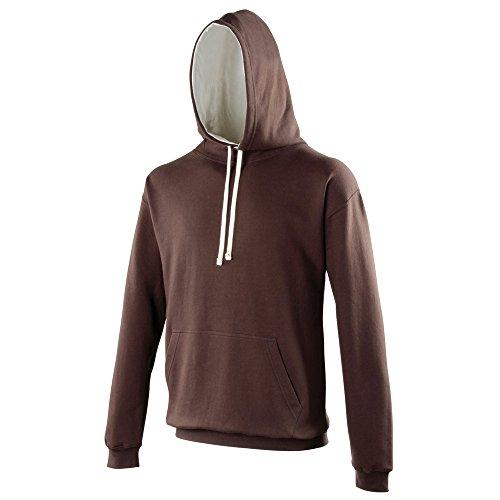 AWDis Hoods Varsity hoodie Hot Chocolate/ Vanilla Milkshake