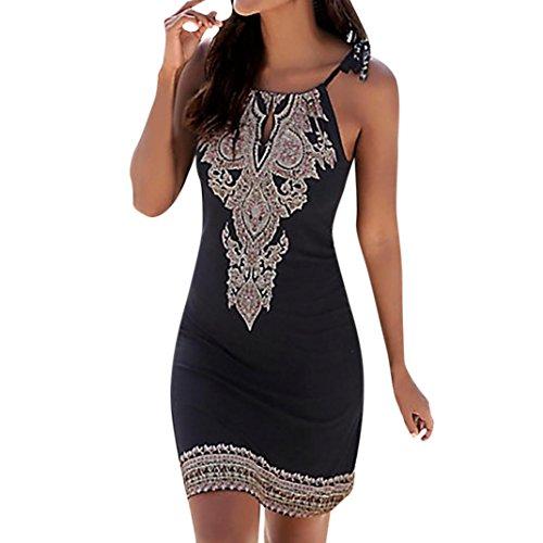 Damen Kleider Frauen Dress Retro Minikleid Bodycon Etuikleid Knielänge Formelle Büro Kleid 1/2...