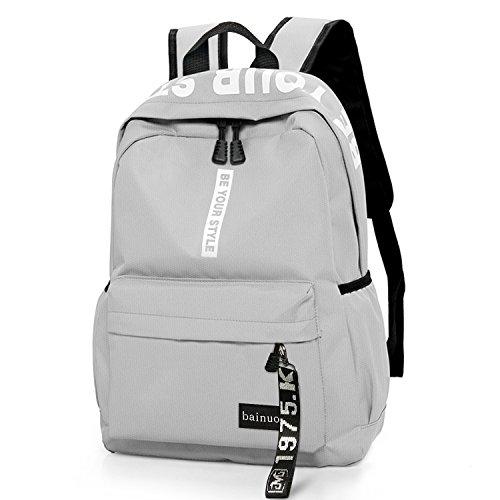 bainuote Schulrucksack Schultaschen Mädchen Teenager Rucksack Schultasche Canvas Schulrucksäcke wasserdichte Schulrucksack Backpack Daypacks für Damen Herren geeignet für 15.6 Zoll Laptop Notebook