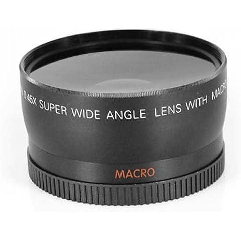 DIGIFLEX Nuevo objetivo macro gran angular de 58 mm y ojo de pez para Canon 350D 400D 450D 500D 1000D