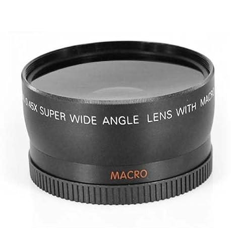 DIGIFLEX Objectif macro grand-angle 58 mm et fisheye pour Canon 350D, 400D, 450D, 500D, 1000D