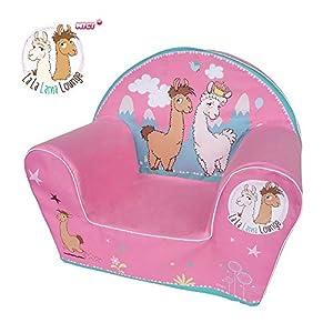 Knorrtoys 80253 sofá para niños - Sofás para niños (Rosa, NICI La-La-Lama Lounge, Niño/niña, 30 kg, Lavado de Manos, 30 °C)