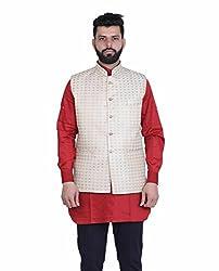 Veera Paridhaan Printed Beige Party wear Nehru Jacket(VP00706336)