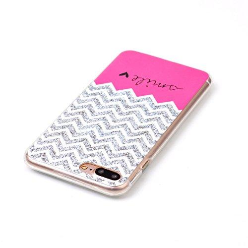 iPhone 7 Plus Hülle, Apple iPhone 7 Plus Hülle, Gift_Source [ Batman ] Schutz-Hülle Silikon TPU transparent ultra-slim Case Cover ultra-thin durchsichtig für Apple iPhone 7 Plus 5.5 inch E1-Waves Lächeln