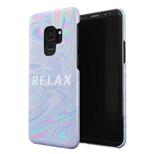 Maceste Trippy Tie Dye Rainbow Acid Relax Kompatibel mit Samsung Galaxy S9 SnapOn Hard Plastic Phone Protective Fall Handyhülle Case Cover - Acid-wash Finish