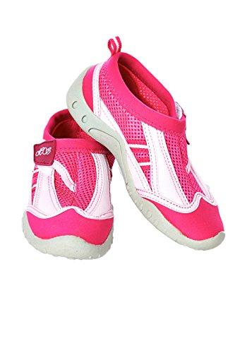 Chaussurespour l'eau élégantes pour enfants petits et grands –Chaussures de plage avec fermeture Velcro Rose - Fuchsia