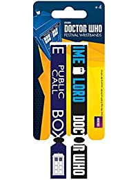 Doctor Who Wristbands time lord Call Box Nue offiziell 2 x Fabric Strap Festival