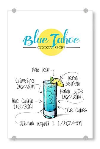 artboxONE Acrylglasbild 30x20 cm Essen & Trinken Cocktail Blue Tahoe - Bild Rezept Cocktail Nightlife - Tahoe Schlafzimmer