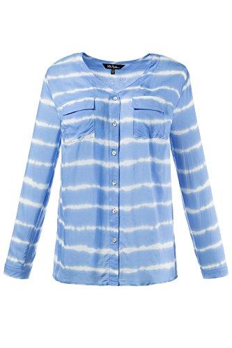 Ulla Popken Femme Grandes Tailles Blouse 710379 bleu cristal
